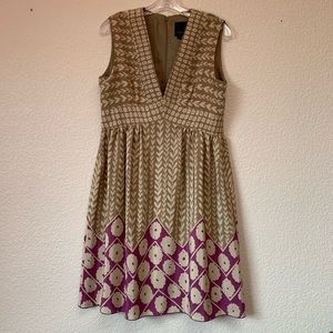 Anna Sui For Anthropologie Silk Dress size 10